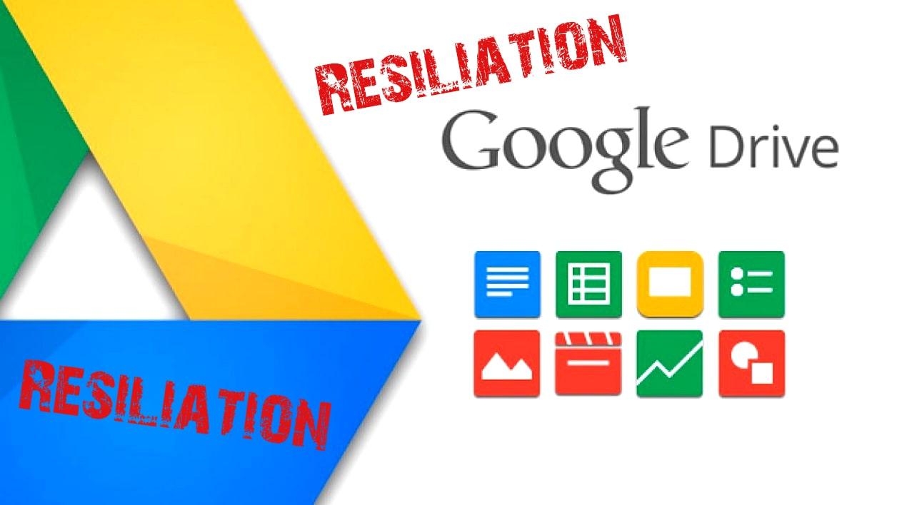 résilier son abonnement Google Drive